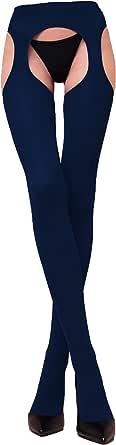 WOOTI TIGHTS Strip Panty MESSICANA Microfibra 100 den, Calza Collant Sexy, Elegante, Morbido, Caldo, Adatto alla stagione Invernale, Resistente