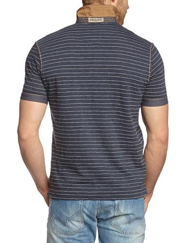 TOM TAILOR Herren Poloshirt fabric mix polo/404 Blau (agate stone blue 6519)