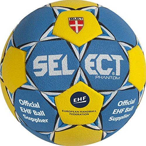 Select Phantom Pallone Handball 1690850225, Blu - blau/Gelb, Taglia 1