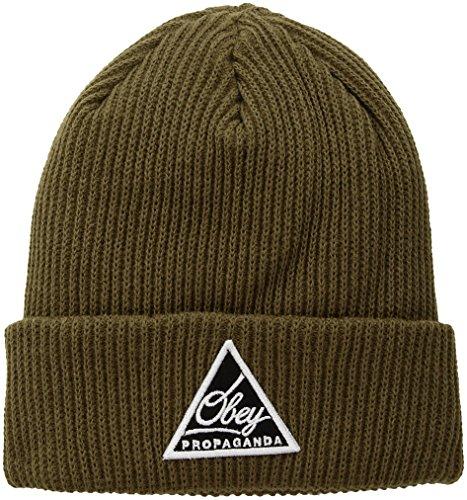 Obey Herren 100030114 Wintermütze - grün - Einheitsgröße - Obey-mütze