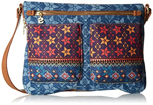 Desigual Borsa Mytics Baqueira Blu Donna Blu (Jeans) Nuevos Estilos Precio Barato U5KCpr4RiF