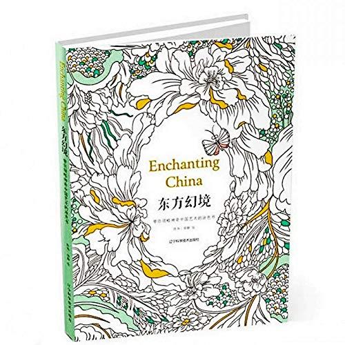 96 páginas encantadoras de China libros para colorear para adultos y...