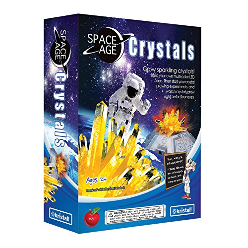Kristal Educational Space Age Crystal Growing Kit W/LED Base-Citrine Cluster (Crystal Age Space Cluster)