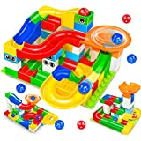Feleph Marble Run Building Blocks Construction Toys Set Puzzle Race Track For Kids 52 Pieces