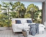 Yosot Benutzerdefiniertes Hintergrundbild Europäischen Hand-Banana Tree Tropical Rainforest Garten Freien Tv-Couch Gemalten Hintergrund 3D Tapete-140Cmx100Cm