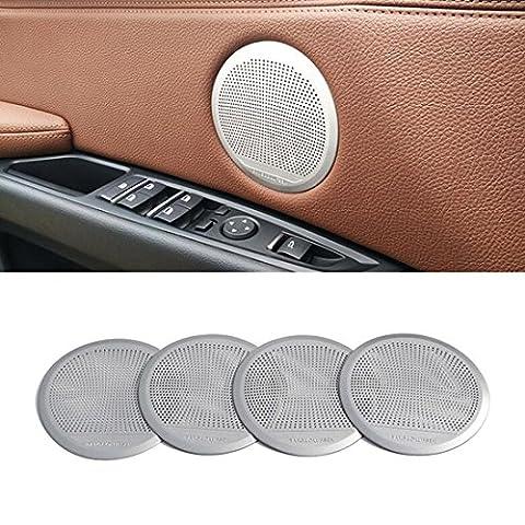 Auto Décorations intérieures en alliage d'aluminium enceinte de porte Chrome Cover Garniture pour BMW X5F15X6F162014–17de voiture Styling Accessoires 4psc/Lot