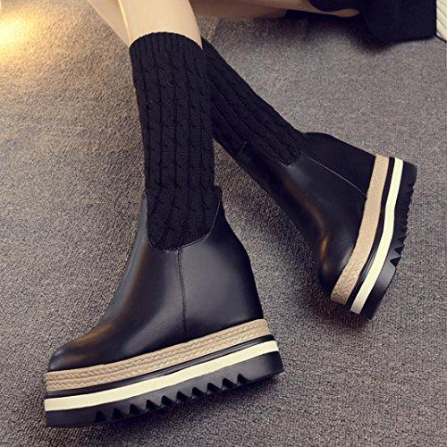 Botas Mujer Zapatos Rodilla Hasta Cálido Invierno Algodón Abrigos q4vwBqCzx