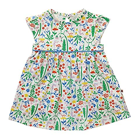 Piccalilly Organic Cotton Multicoloured Baby Girls Summer Meadow Print Body
