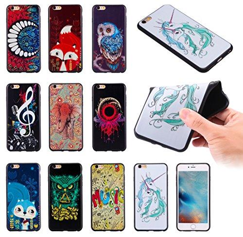 iPhone 6Plus Coque, iPhone 6s Plus Coque, Ultra mince antichoc souple en gel TPU Bumper souple en caoutchouc de silicone de protection Peau avec anti-rayures pour Apple iPhone 6Plus/6s Plus 14cm iP Pop Music