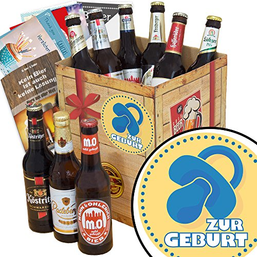 Zur Geburt Junge | Bierpaket | mit Bieren aus Ostdeutschland