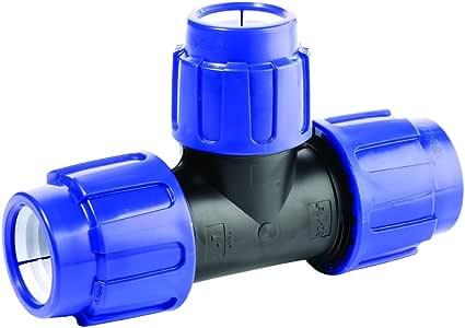 PE T/é AG 25/mm x 1//2/X 25/mm 16bar Fitting pression pour tuyaux en PE 25/E