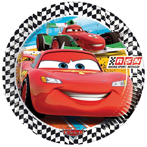 Disney 81558P - Cars - Partyteller (1 x 8 STK.) (Rennen-auto-teller)