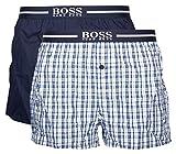 BOSS Herren Schlafanzughose 2P Boxer Shorts EW (L, Blau (405 Dark Blue))