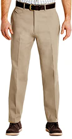 Pegasus Mens Cotton Chino Discreet Side Elasticated Stretch Waistband Trouser Pants Size