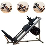 Body-Solid 3in1 Beintrainer Beinpresse 45° Hackenschmidt Wadentrainer Kraftstation Fitness Leg Press Hack Squat Glph-1100