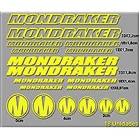PEGATINAS MONDRAKER R51 STICKERS AUFKLEBER DECALS AUTOCOLLANTS ADESIVI (AMARILLO)