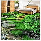 Dekoration 3D Dreidimensionale Grüne Naturstein Wohnzimmer Schlafzimmer Boden Pvc Selbstklebende Tapete 140X100cm