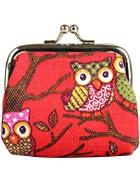 Generic Owl Coin Money Bag Purses & Coin Pouches For Women And Girls (Red)
