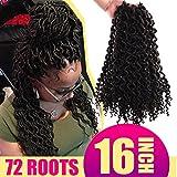 "Silike New Faux Locs Curly 16"" (24Roots/Piece,3 Pieces) 2X Mambo Coily Dense Locs Deep Faux Locs Crochet Braids Goddess Locs Crochet Braiding Hair Extension (#4)"