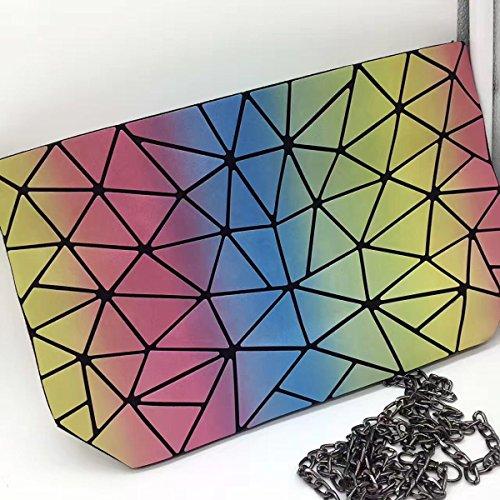 Colorful Arcobaleno Borsa Delle Signore Nuova Mini Spalla Sacchetto Del Messaggero Sacchetto Del Laser RainbowBag