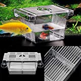 #5: Acrylic Fish Tank Breeding Breeder Isolation Box Aquarium Hatchery Incubato Grow Seedlings Reproduction Holder