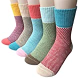 Vellette Baumwolle knallig bunt gepunktete Damen Socken Gr. 35-40 (5 Paar)