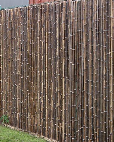 Bambus Sichtschutzzaun Mit Geschlossenen Rohren 180 Cm X 500 Cm