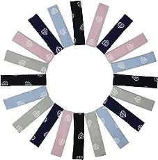 Evogirl Tic Tac Clips Elegant Fabric Design Premium Barrattes Multicolored English Shade Leaf Print, Medium, for Women/Girls