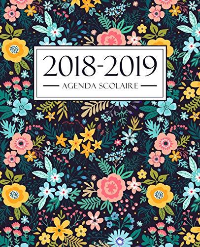 Agenda scolaire 2018-2019: 19x23cm : Agenda 2018 2019 semainier : Motif floral 4275