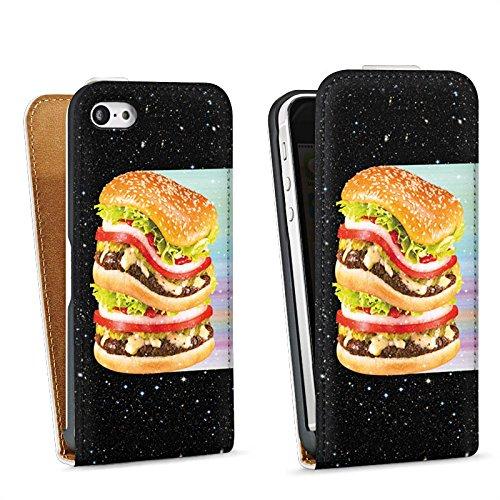 Apple iPhone 4 Housse Étui Silicone Coque Protection Hamburger Hamburger hambourgeois Viande Sac Downflip blanc