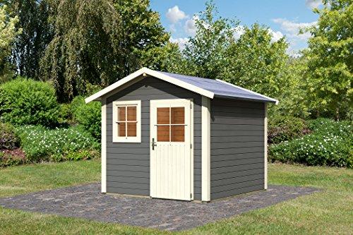 Karibu Gartenhaus Friedeborg terragrau 28 mm