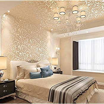 LXPAGTZ Continental Gold Foil Wallpaper Living Room Bedroom Television TV Background Wall PVC Projects Special Golden