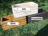 NEU Pflanzkasten aus Holz TOP Pflanzkübel Garten Terrasse fertig montiert D2 Nuss (60 cm)