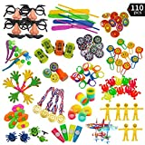 Aperil 110 Pc Party Favor Toy Assortment Kids Party Favor, Birthday Party School Classroom Rewards Carnival Prizes Pinata Toys Stocking Stuffers by Joyin Toy