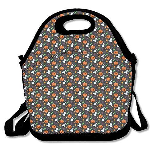arthur thom Glückliches Halloween Muster Mittagessen Taschen Taschen Handtaschen Lunchbox für die Schularbeit im Freien (Halloween Taschen Muster)