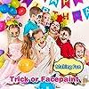 Hoplaza Set di smalti per Viso per Bambini, 14 Colori, 30 Stencil, 4 spugne Professionali, 2 spazzole, 2 Glitter, Colore per Make-up, Colori ipoallergenici a Base di Acqua.