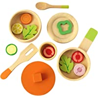 Shumee Wooden Toys- Lil Chef's Wooden Cooking Set (Age 3+) |16 Piece Toy Set