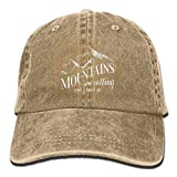 uykjuykj The Mountains Are Calling and I Must Go Unisex Adult Sun Dad Caps Adjustable Unique Personality Cap Baseballmütze