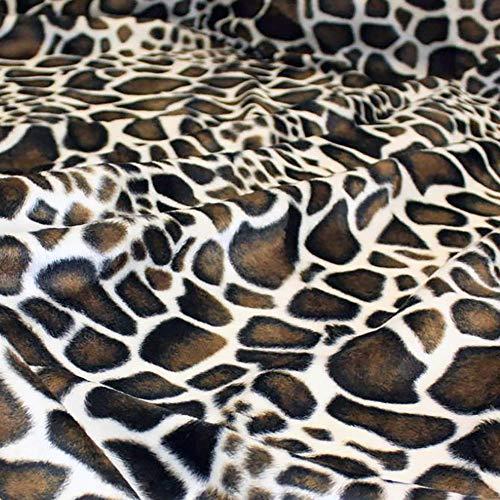 TOLKO Kurzhaar Kunstfell als Meterware - tolle Tierfell-Imitat Stoffe (Giraffe)
