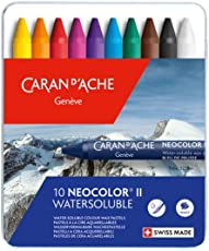 Caran Dache Neocolor II Superior Quality Water-Soluble Artist Pastels 10 Shades