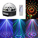 CroLED RGB Lasereffekt Projektor - Disco DJ Stage Lighting LED - MP3 Funktion - Kristall Magic Ball Effect Licht -für Weihnachtsparty Disco Party Klub MP3/USB/Fernbedienung/Sound-aktiv