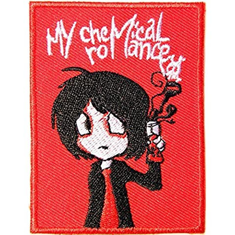 MY CHEMICAL ROMANCE Logo Punk Rock Heavy Metal Music Band Jacket shirt hat blanket backpack T shirt Patch Embroidered Appliques Symbol Badge Cloth Sign Costume Gift by Large husky music patches