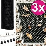 Powerpreise24 3X Lichtschacht Abdeckung 60 x 120 aus Fiberglas individuell zuschneidbare Kellerschachtabdeckung Kellerschacht Lichtschachtabdeckung langlebig und luftdurchlässig
