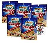 [ 5x 100g ] Philippine BRAND getrocknete Mangos Mango-Streifen / Dried Mangoes + ein kleines Glückspüppchen - Holzpüppchen