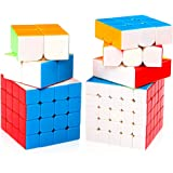 D ETERNAL MoYu Combo Cube Set of 2x2 3x3 4x4 5x5 High Speed Stickerless Puzzle Game,Multicolor