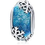 Ciondolo in vetro di Murano e argento Sterling per braccialetti Pandora