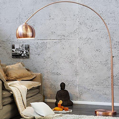 BIG BOW RETRO DESIGN LAMPE stehlampe bogenlampe Kupfer