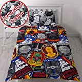 Star Wars Classic 'Patch' 2 Piece UK Single/US Twin Sheet Set - 1 x Double Sided Sheet and 1 x Pillowcase Repeat Print Design