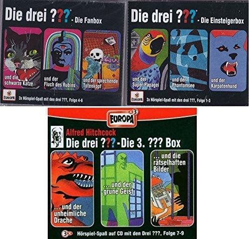 Die Drei ??? (Fragezeichen) - Folgen 1-9 (3 CD Box 1+2+3) im Set - Deutsche Originalware [9 CDs]