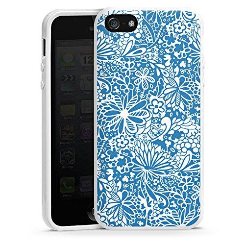 Apple iPhone 6 Housse Étui Silicone Coque Protection Motif Motif Ornements Housse en silicone blanc
